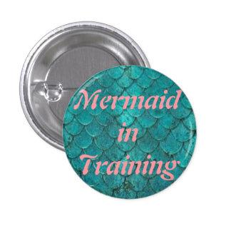 Mermaid in training  1¼ Inch Round Button