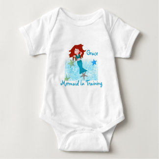 Mermaid In Training Baby Bodysuit
