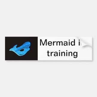 mermaid in training bumper sticker car bumper sticker