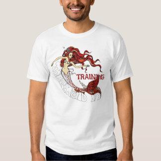 Mermaid in Training (redhead) Tshirt