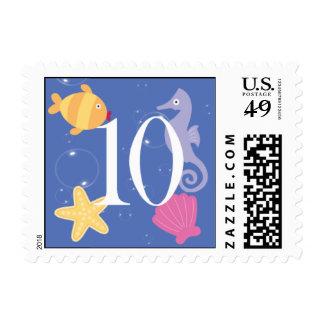 Mermaid Invitation Postage - 10