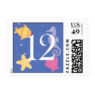 Mermaid Invitation Postage - 12