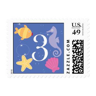 Mermaid Invitation Postage - 3