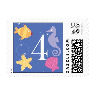 Mermaid Invitation Postage - 4