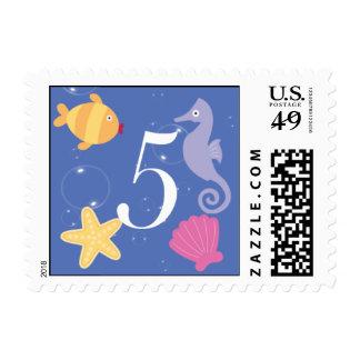 Mermaid Invitation Postage - 5