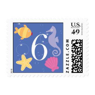 Mermaid Invitation Postage - 6
