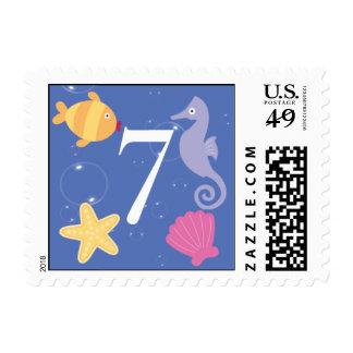 Mermaid Invitation Postage - 7