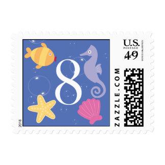 Mermaid Invitation Postage - 8