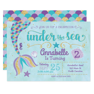 Under The Sea Invitations Announcements Zazzle