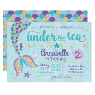 Under The Sea Invitations Zazzle