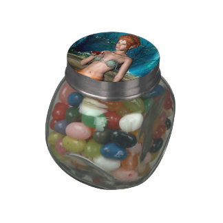 Mermaid Jelly Belly Candy Jars