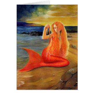 Mermaid Key Sunset Card
