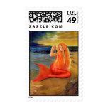 Mermaid Key Sunset Postage
