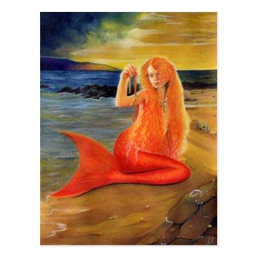 Beach Themed Mermaid Key Sunset Postcard
