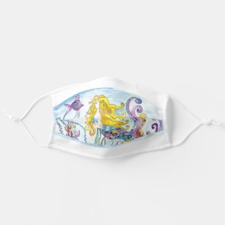 Mermaid Kiss Klimt inspired Cloth Face Mask