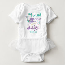 Mermaid Kisses & Starfish Wishes Baby TuTu Shirt