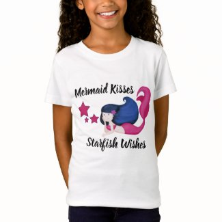 Mermaid Kisses Starfish Wishes Girls TShirt