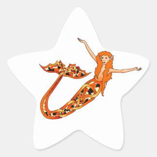 Mermaid Koi Star Sticker