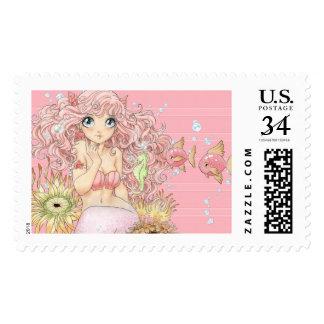 Mermaid (L, pink) Stamp