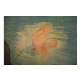 Mermaid lagoon wood wall art