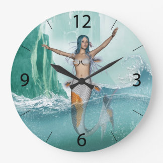 Mermaid Large Clock