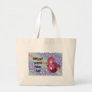 Mermaid Large Tote Bag