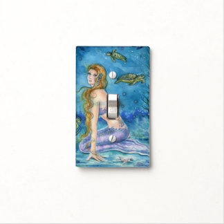 Mermaid light switch cover by Renee L. Lavoie