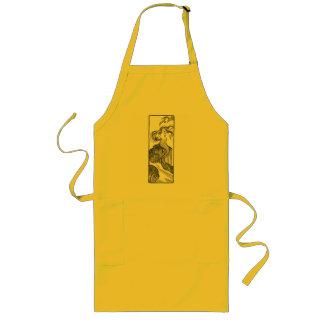 mermaid long apron