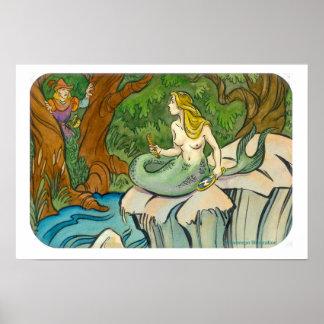 Mermaid Lorelei and Prince Enchanted Posters