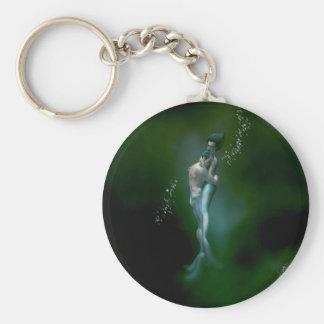Mermaid Love Basic Round Button Keychain