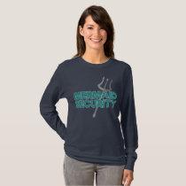 Mermaid Lover Swimming Gift Mermaid Security Gift T-Shirt