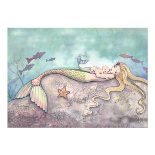 mermaid baby shower gifts t shirts art posters other gift ideas
