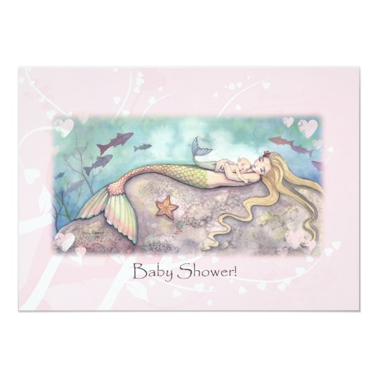 Mermaid Lullaby Baby Shower Invitations