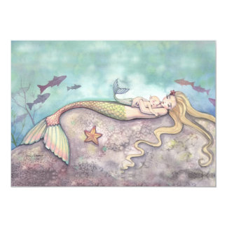 Mermaid Lullaby Baby Shower Thank You Cards