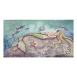 Mermaid Lullaby Mother and Baby Poster
