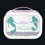 """Mermaid Lunch box, Girls School Lunch box<br><div class=""""desc"""">Back to the school with this cute lunch box will be extra fun!</div>"""