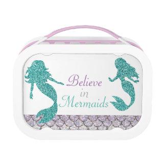 Mermaid Lunch Box, Girls School Lunch Box at Zazzle
