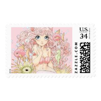 Mermaid (M, pink) Stamp