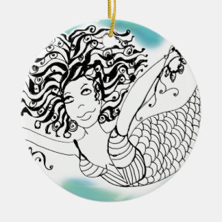 Mermaid - Make A Big Splash Ceramic Ornament
