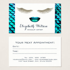 mermaid makeup artist appointment card