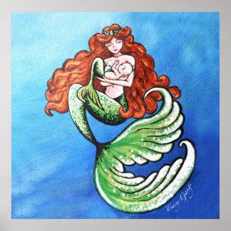 Mermaid Mama Large Poster