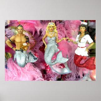 Mermaid Mardi Gras Party Poster