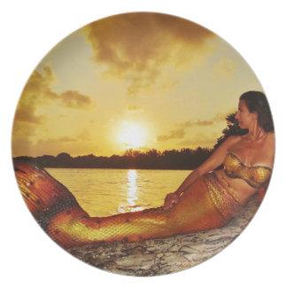 Mermaid Marla Merchandise Melamine Plate