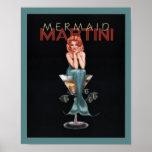 Mermaid Martini Posters