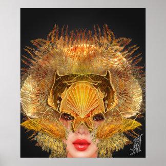 Mermaid Mask - Siren Posters