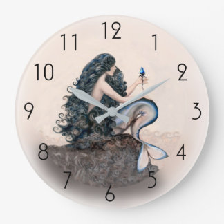Mermaid Mermaids Fantasy Myth Large Clock