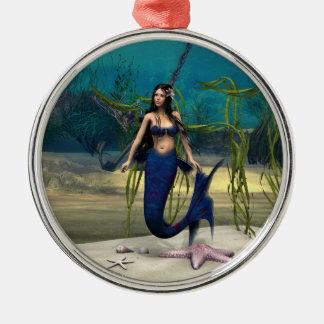 Mermaid Metal Ornament