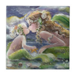 "Mermaid mom and child Tile<br><div class=""desc"">created from original ART</div>"