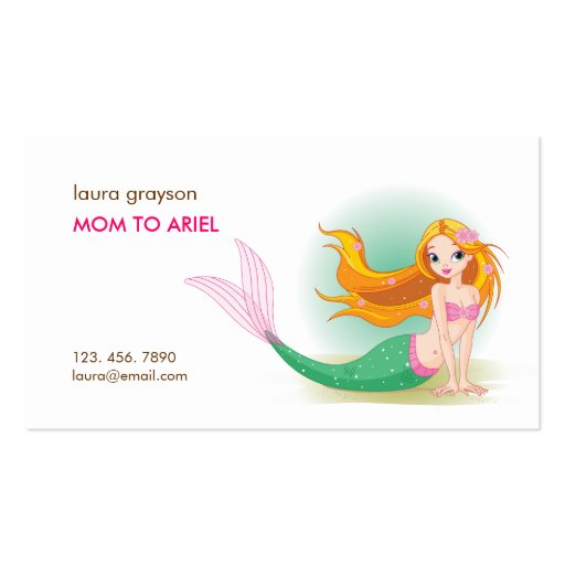 Mermaid Mommy Calling Card Business Card Templates