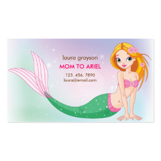 Mermaid Mommy Calling Card Business Card